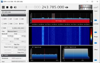 Milstar UHF FHSS Downlink on 243.785 MHz