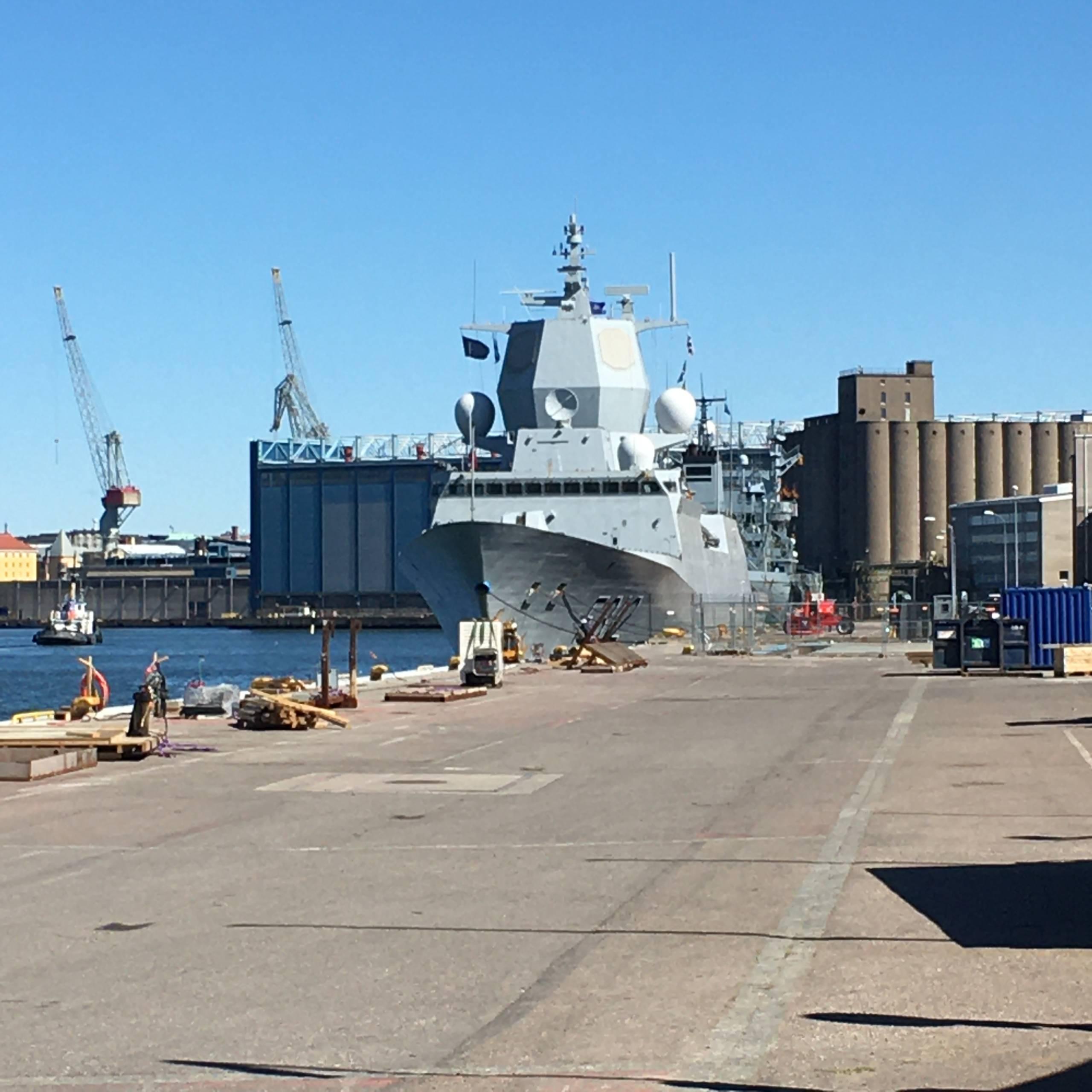 Helsinki harbour, spring 2020